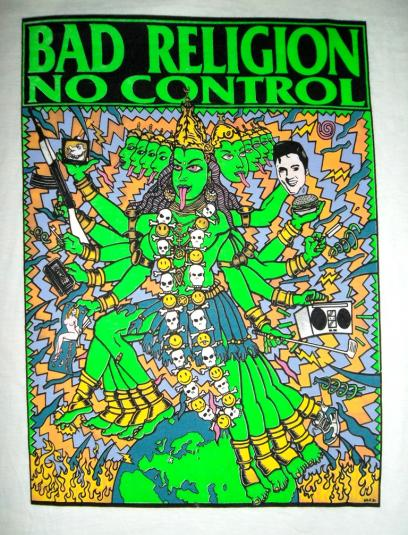 VINTAGE BAD RELIGION 1989 PROMO TOUR NO CONTROL T-shirt