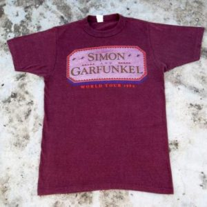 VINTAGE SIMON & GARFUNKEL 1982 WORLD TOUR T-SHIRT