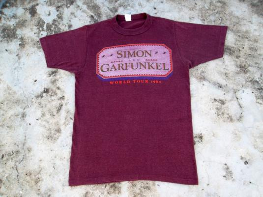 VINTAGE SIMON & GARFUNKEL 1982 WORLD TOUR T-SHIRT