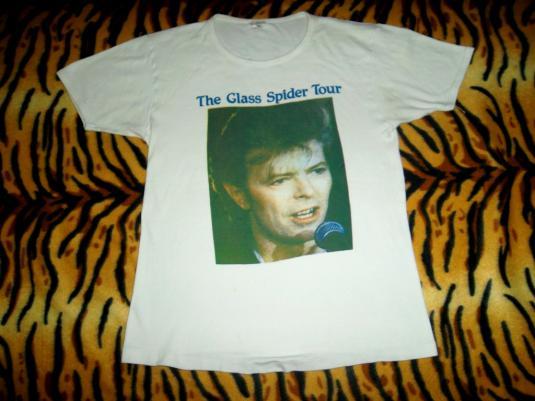 VINTAGE DAVID BOWIE THE GLASS SPIDER 1987 TOUR T-SHIRT