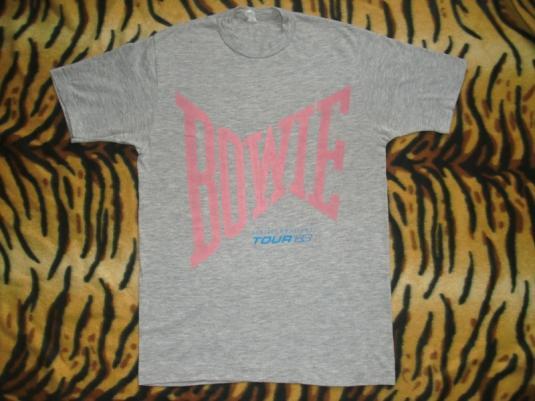 DAVID BOWIE SERIOUS MOONLIGHT 1983 TOUR T-SHIRT
