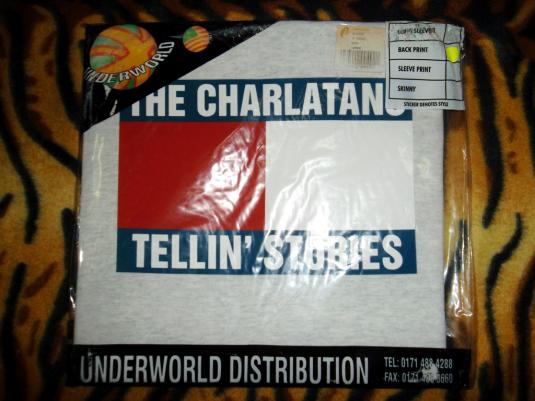 VINTAGE THE CHARLATANS 1990s 1997 TELLIN' STORIES T-SHIRT