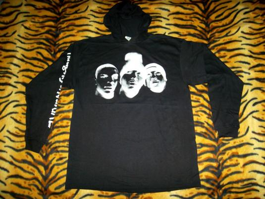 NAUGHTY BY NATURE DEAD STOCK 1993 HOODY T-SHIRT RARE
