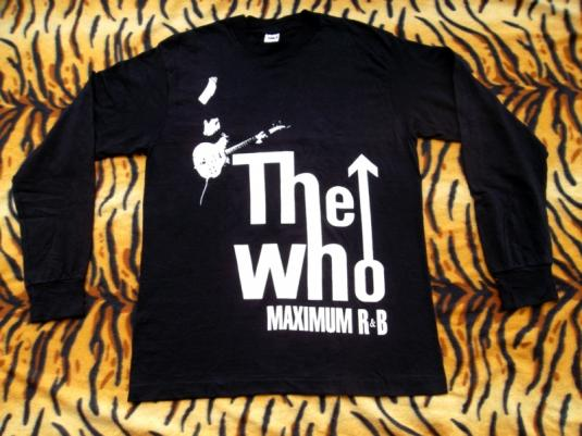 VINTAGE THE WHO 1980s MAXIMUM R&B LONG SLEEVE T-SHIRT