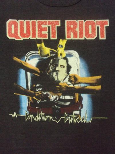 Vintage 1984 QUIET RIOT Promo sleeveless t-shirt