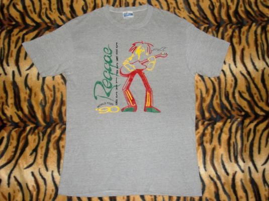 REGGAE SUNSPLASH 1990 WORLD TOUR PAPER THIN T-SHIRT