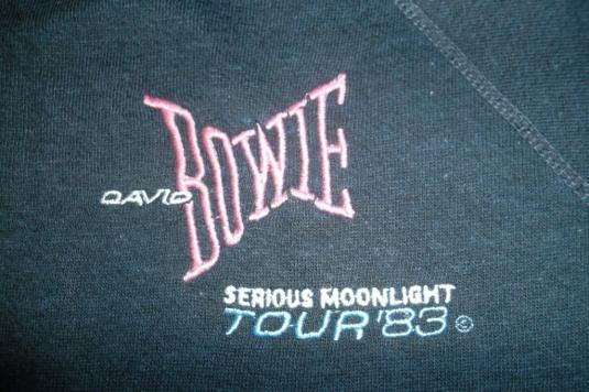 VINTAGE DAVID BOWIE 1983 SERIOUS MOONLIGHT SWEATER SHIRT