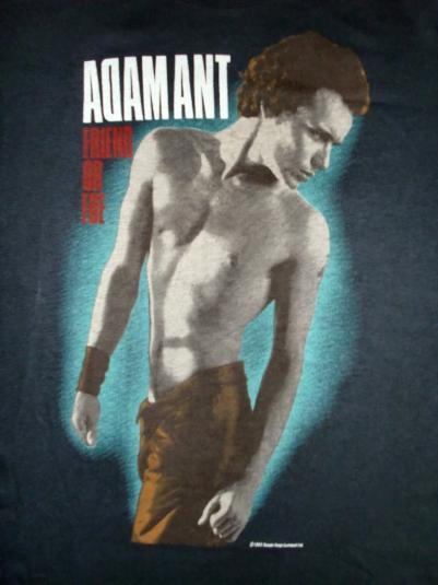 VINTAGE ADAM ANT 1983 FRIEND OR FOE T-SHIRT