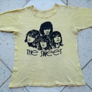 Vintage 1970s The Sweet Promo tour T-shirt