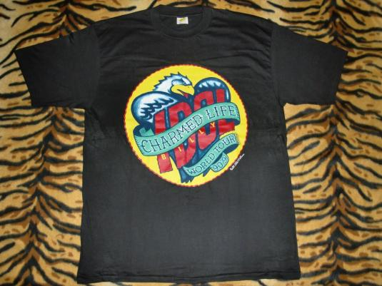 VINTAGE BILLY IDOL UNWORN 1990 CHARMED LIFE TOUR T-SHIRT