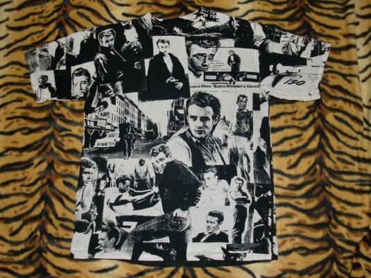 VINTAGE JAMES DEAN REBEL WITHOUT A CAUSE ALL ROUND T-SHIRT