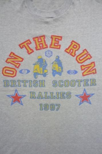 PIAGGIO BRITISH SCOOTER RALLIES 1987 T-SHIRT RARE