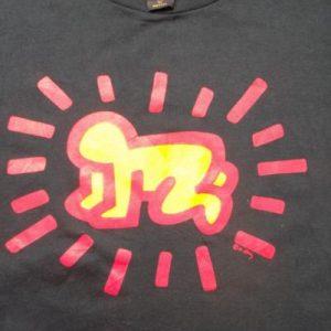 Original Vintage Keith Haring 1980s Pop Art T-shirt
