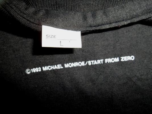 MICHAEL MONROE RARE JAPAN TOUR CONCERT 1992 HANOI ROCKS