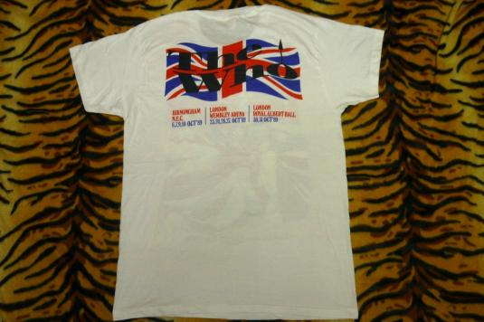 The Who Kids are Alright England 1989 Tour T-shirt