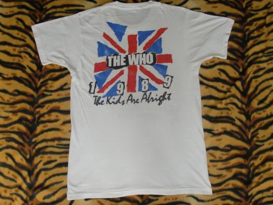 VINTAGE THE WHO 25 YEARS ANNIVERSARY T-SHIRT