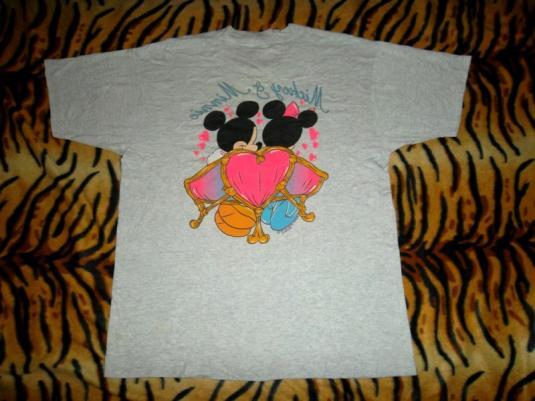 Mickey & Minnie Mouse 80s Disney 50/50 T-shirt