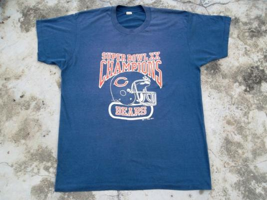 VINTAGE CHICAGO BEARS 1985 NFL SUPERBOWL CHAMPIONS T-SHIRT