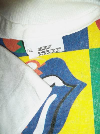 VINTAGE THE ROLLING STONES EUROPE 1990 TOUR T-SHIRT