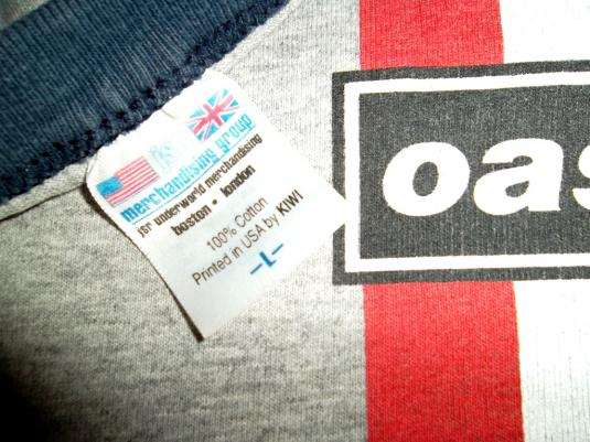 OASIS NORTH AMERICAN TOUR 1996 CONCERT TOUR T-SHIRT