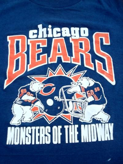 Vintage 1980s Chicago Bears Monsters Of The Midway T-shirt