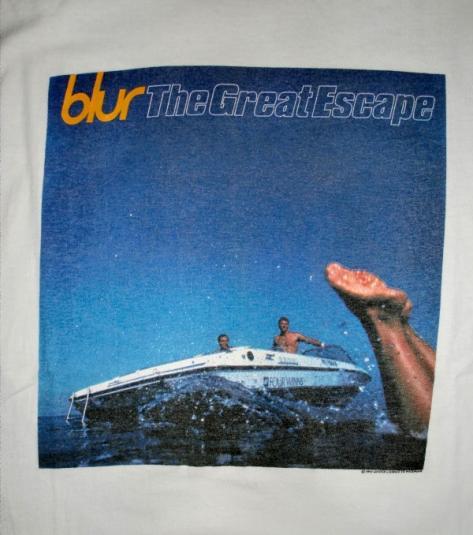 BLUR 1995 GREAT ESCAPE ALBUM PROMO T-SHIRT