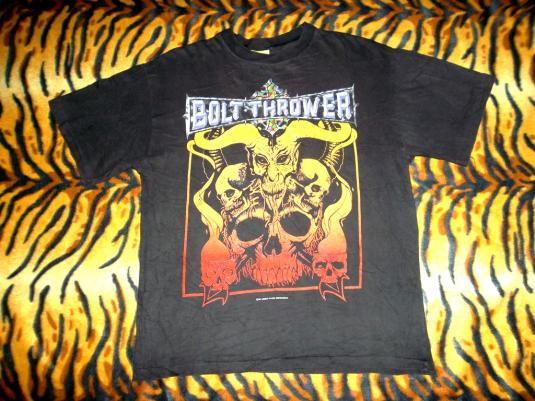 BOLT THROWER 1993 CONCERT TOUR BRITISH DEATH METAL T-SHIRT