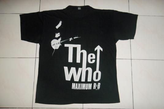 VINTAGE THE WHO 1989 MAXIMUM RnB T-SHIRT