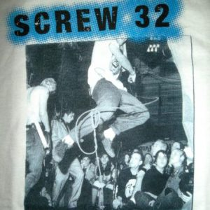 VINTAGE SCREW 32 PROMO 1995 TOUR PUNK ROCK HARDCORE T-SHIRT