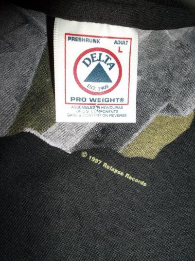 VINTAGE DECEASED 90s METAL PROMO RELAPSE RECORDS T-SHIRT