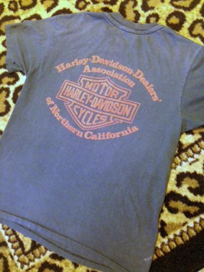12th Annual Redwood Run Harley Davidson Vintage Tshirt