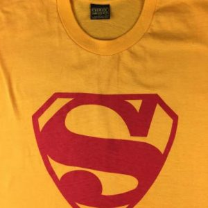 Vintage 60s 70s Crazy Shirts DC Comics Superman Logo T-Shirt