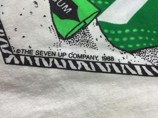 Vintage 1988 7Up See Spot Catch Rays Soda T-Shirt