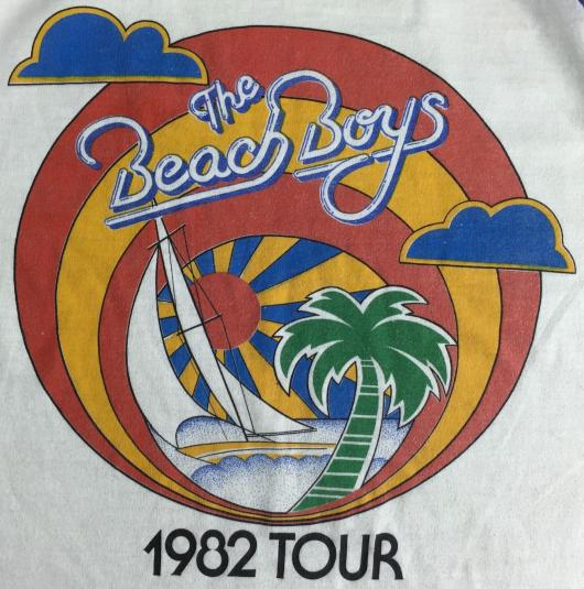 Vintage 1982 Beach Boys Concert Tour Long Sleeve T-Shirt S/M