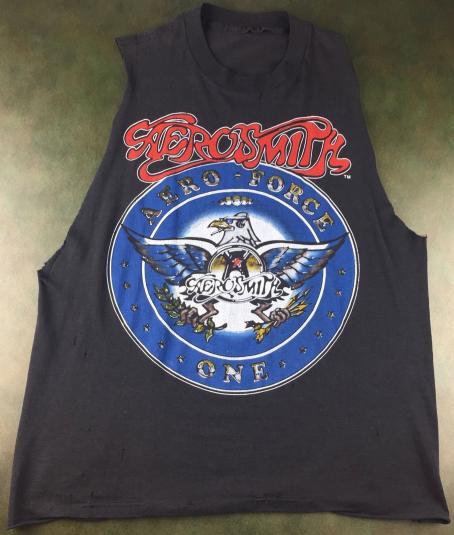 Vintage 1987-88 Aerosmith Aero-Force One Concert T-Shirt