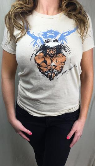 Vintage 1978 Neal Adams Barbarian Comic Book Artist T-Shirt