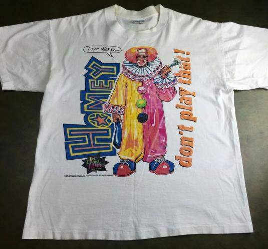Vintage 1991 In Living Color Homey The Clown Funny T-Shirt L