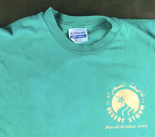 Vintage 1991 Desert Storm Baghdad Hard Rock Cafe T-Shirt