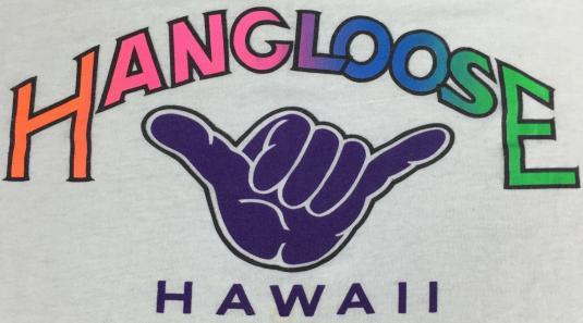 Vintage 80s 90s Hang Loose Hawaii Screen Stars T-Shirt XL