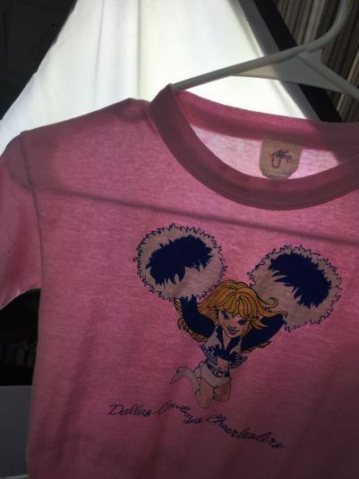 Vintage 70s 80s Dallas Cowboys Cheerleaders Football T-Shirt