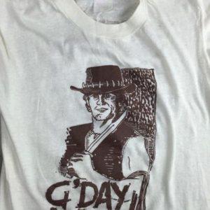 Vintage 80s Crocodile Dundee G'Day Mate Australia T-Shirt S