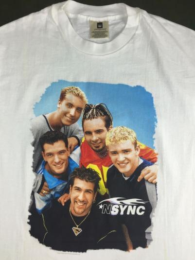 Vintage 1998 NSync Boy Band Concert Tour Timberlake T-Shirt