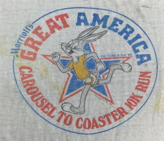 Vintage 1983 Bugs Bunny Marriotts America Run Thin T-Shirt M