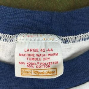 Vintage 70s 80s Funny Best Pooter Handmade Ringer T-Shirt L