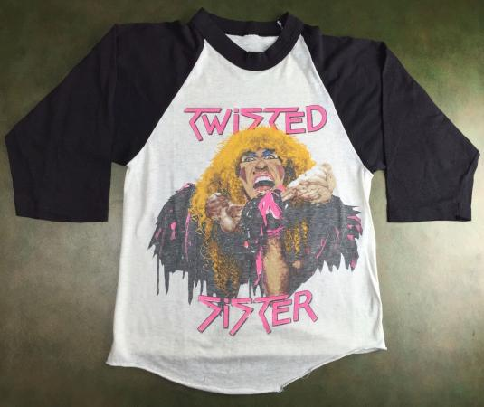 Vintage 1984 Twisted Sister Stay Hungry Tour Concert T-Shirt