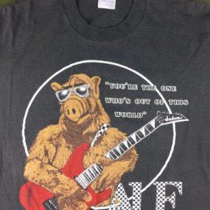 Vintage 80s ALF Jackson Guitar Science Fiction TV T-Shirt