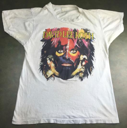 Vintage 1986 David Lee Roth World Tour Concert T-Shirt