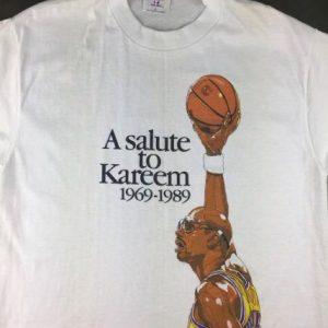 Vintage 1989 Kareem Abdul-Jabbar Lakers Basketball T-Shirt