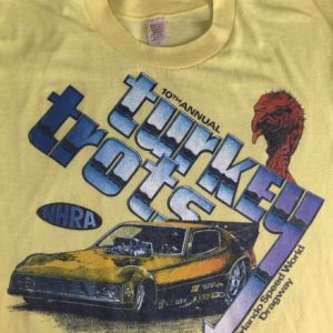 Vintage 1978 NHRA Turkey Trots Orlando Drag Racing T-Shirt L