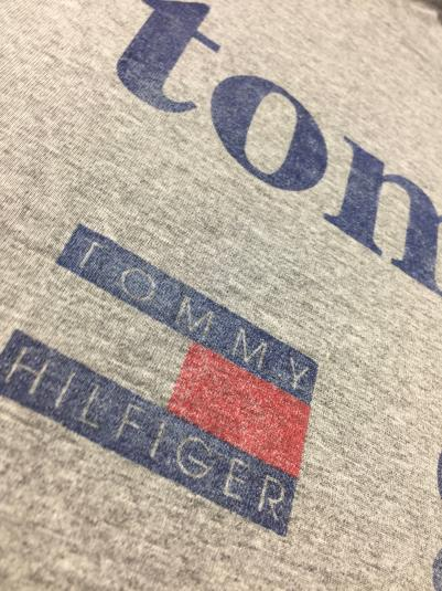 Vintage 80s 90s Tommy Girl Hilfiger JERZEES Gray T-Shirt 2XL